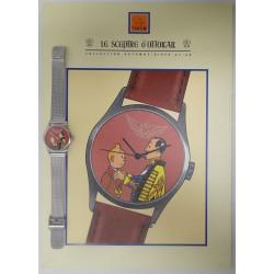 Kuifje horloge + kartonnen display
