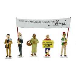 Set Tintin figures  Serie 5 Carte de voeux 1972
