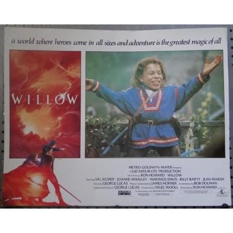 Willow - original Lobby Card No1 Val Kilmer Joanne Whalley Warwick Davis