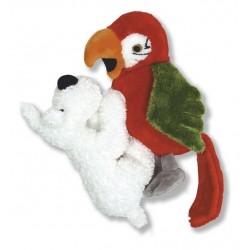 Pluche Bobbie met Papagaai