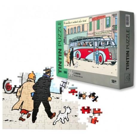 Puzzel + Poster Swissair bus