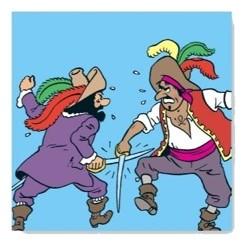 Haddock vecht