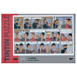 Kuifje puzzel – kleefpleister