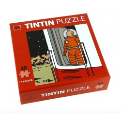 Puzzel Kuifje in de deur van raket