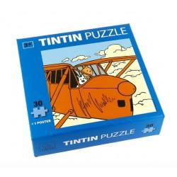Puzzel Kuifje in het Vliegtuig