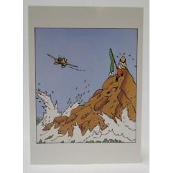 Kuifje kaart Kuifje en watervliegtuig