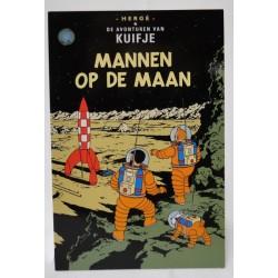 Kuifje postcard Mannen op de maan