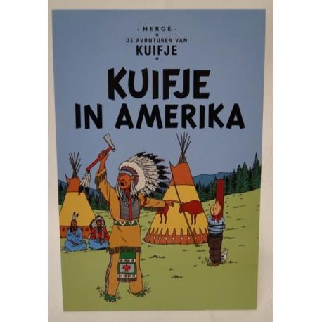 Kuifje postcard Kuifje in Amerika
