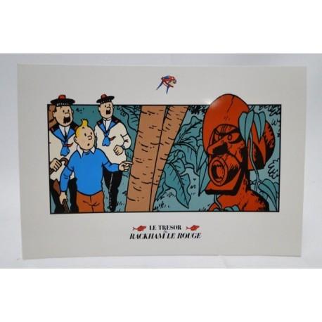 Kuifje postcard Rackham le rouge