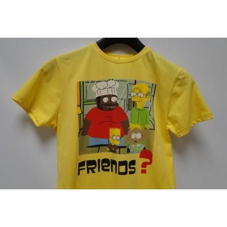 T-shirt Bart Simpson Geel