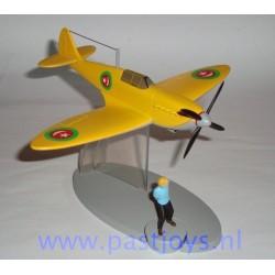 Het gele vliegtuig van de Emir