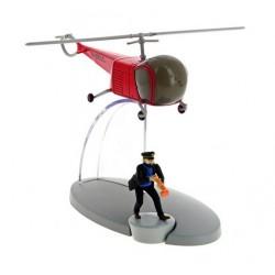 De helikopter van de Bordurische agenten