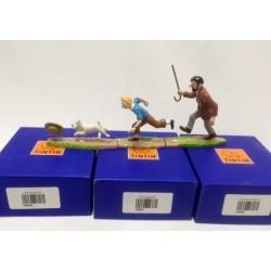 Tintin Haddock Milou poursuite