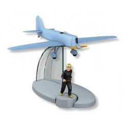 Het blauwe vliegtuig