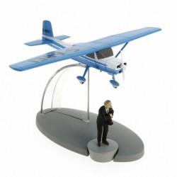 Het blauwe vliegtuig van Muller