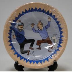 pakje kartonnen bakjes Kuifje, Bobbie en Haddock dansend