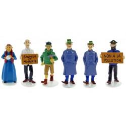 Set Tintin figures Serie 6 Carte de voeux 1972