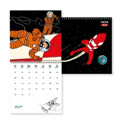2019 Wall Calendar Tintin The Moon Adventure