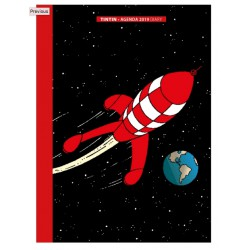 2019 Pocket diary agenda Tintin The Moon