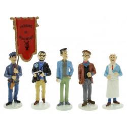 Set Tintin figures Serie 7 Carte de voeux 1972