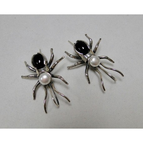 Oorbellen Bruno da Rocha spin zwart
