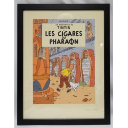 Kuifje poster Cover sigaren van de Fharao