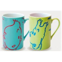 TINTIN: porcelain mugs 2 x