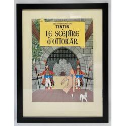 Kuifje poster Sceptre van Ottokar