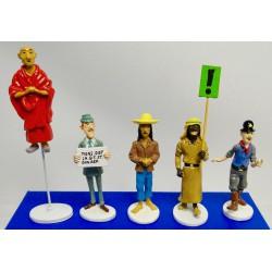 Set Tintin figures Serie 9 Carte de voeux 1972