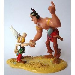 La Poignee de main d'Asterix et Oumpah-pah