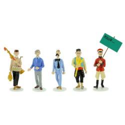 Set Tintin figures Serie 10 Carte de voeux 1972