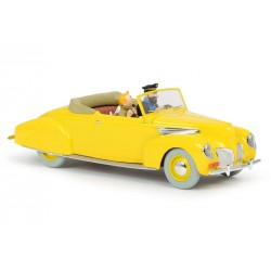 Kuifje, the yellow Haddock Lincoln Zephyr convertible 1:24