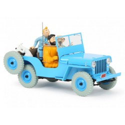 Tintin, the Blue jeep CJ2A 1:24