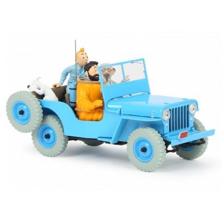 Tintin, the Blue jeep CJ2A 1:24