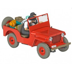 Tintin, the red Jeep Willys MB 1943 1:24