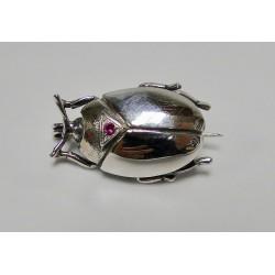 Broche Bruno da Rocha kever fine ruby zilver