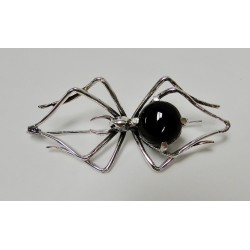 Broche Bruno da Rocha spin zilver onyx