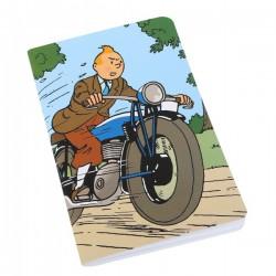 Notitieboekje Kuifje op motor