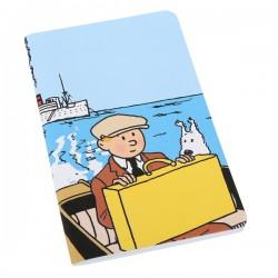 Notitieboekje Kuifje en Bobbie op de boot