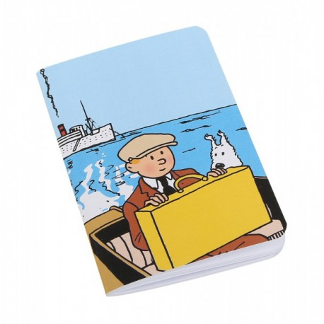 Notitieboekje Kuifje en Bobbie op de boot klein