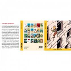 24 ansichtkaarten van Kuifje albums covers
