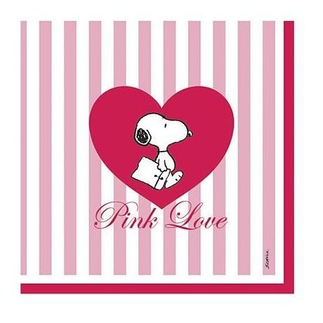 Servetten Snoopy Pink Love