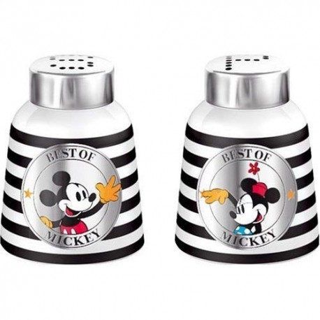 Salt and Pepper Mickey Black and White