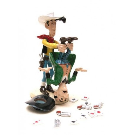 Lucky Luke shaking the cheater