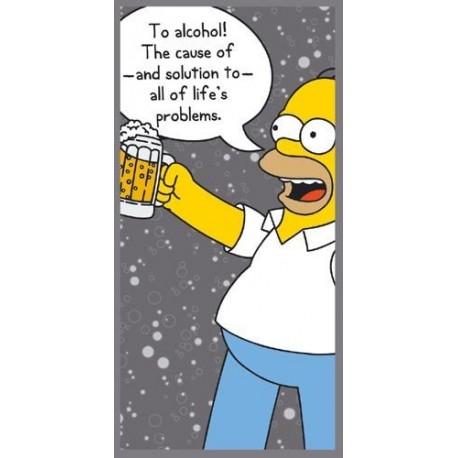 Homer badlaken To Alcohol!