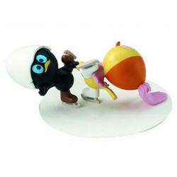 Calimero en Priscilla schaatsen